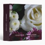 White & Purple Bouquet • Wedding Plans Binder