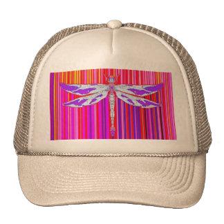 White Purple Dragonfly RainbowDesign by Sharles Hat