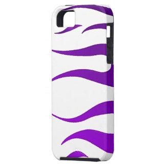 White Purple Flames iPhone 5 Case-Mate Tough iPhone SE/5/5s Case
