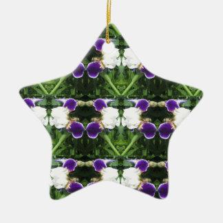 White Purple Green Show CherryHILL NVN217 NavinJOS Christmas Tree Ornaments