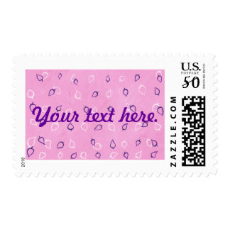 White Purple Leaves Outlines Your Text Stamps