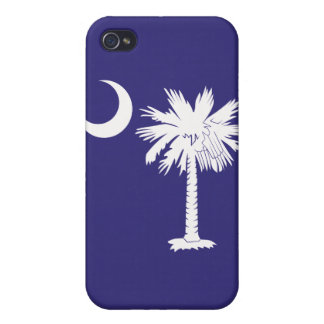 White/Purple Palmetto Moon iPhone 4 Case