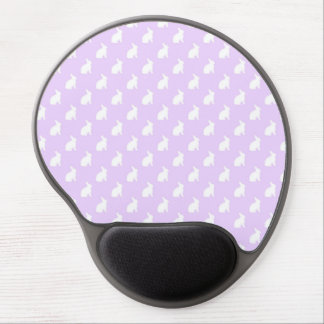 White Purple Pastel Bunny Background Bunnies Gel Mouse Pad