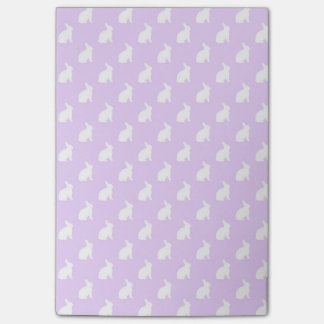 White Purple Pastel Bunny Background Bunnies Post-it Notes