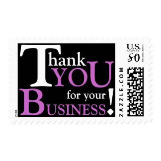 """White & Purple """"Thank you for your Business"""" Postage"""