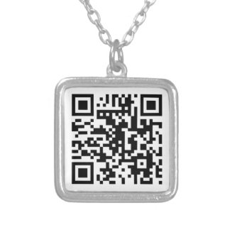 White QR CODE Necklace