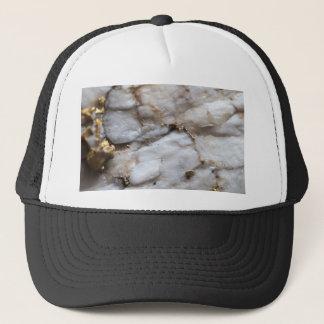 White Quartz with Gold Veining Trucker Hat