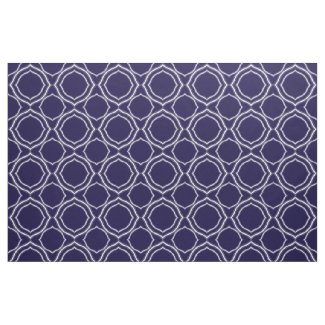 White Quatrefoil on Midnight Blue Background