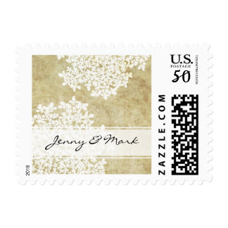 White Queen Ann's Lace Vintage Wedding Postage