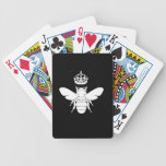 White Queen Bee Logo...Are You A Queen Bee? Bicycle Playing Cards