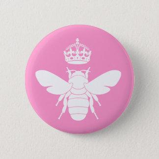 White Queen Bee Logo...Are You A Queen Bee? Button