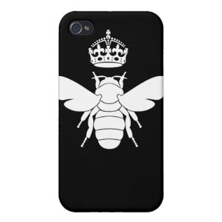 White Queen Bee Logo...Are You A Queen Bee? Case For iPhone 4