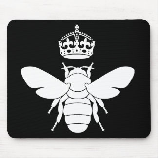 White Queen Bee Logo...Are You A Queen Bee? Mouse Pads