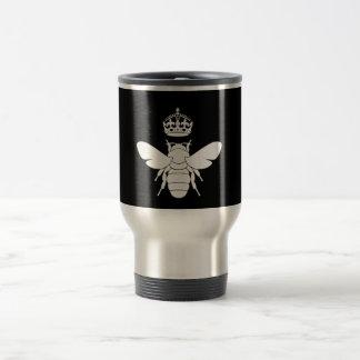 White Queen Bee Logo...Are You A Queen Bee? Travel Mug