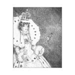 White Queen Canvas Print Alice in Wonderland Art