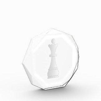 White queen chess piece acrylic award