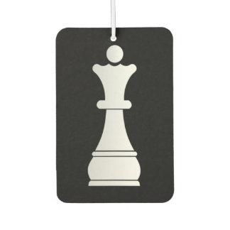 White queen chess piece air freshener