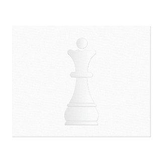 White queen chess piece canvas print