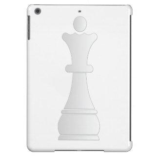 White queen chess piece iPad air case