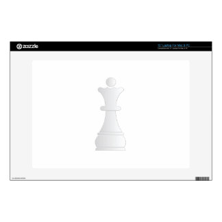 "White queen chess piece decal for 13"" laptop"
