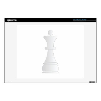 """White queen chess piece decal for 14"""" laptop"""