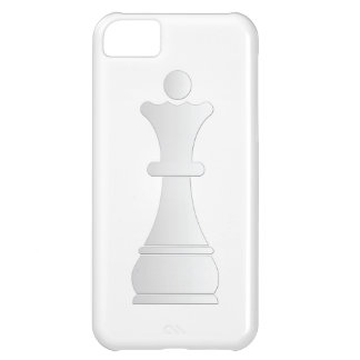 White queen chess piece iPhone 5C cover