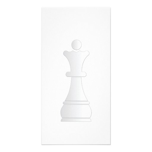 White queen chess piece photo greeting card