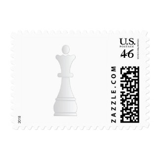 White queen chess piece stamps