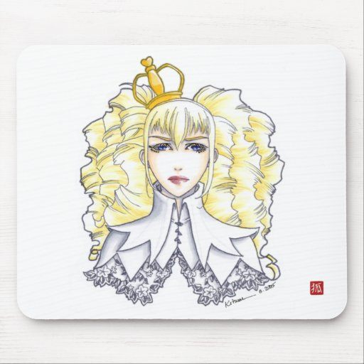 White Queen Mouse Pads