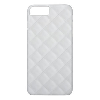 White Quilted Leather iPhone 7 Plus Case