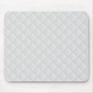 White Quilted Leather Mouse Pad