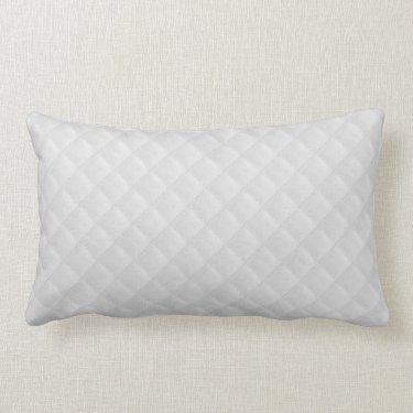 White Quilted Leather Throw Pillows