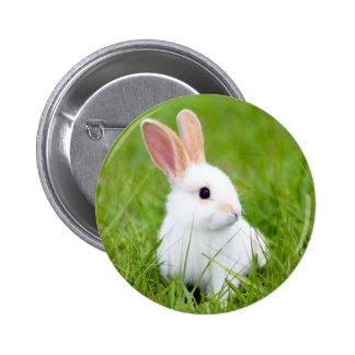 White Rabbit 2 Inch Round Button