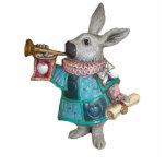 White Rabbit 6 Ornament Photo Sculpture Ornament