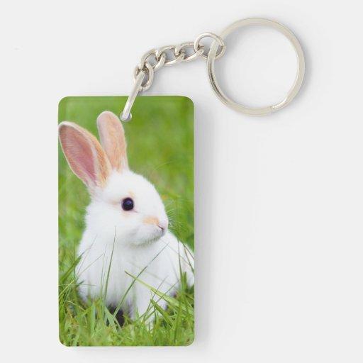 White Rabbit Acrylic Key Chain