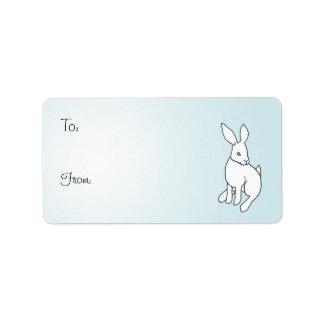 White Rabbit Adhesive Gift Tags Address Label