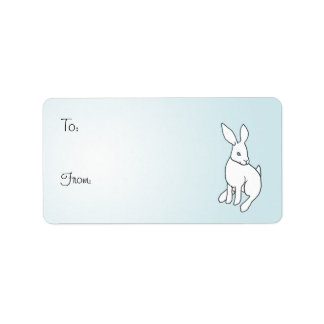 White Rabbit Adhesive Gift Tags Personalized Address Labels
