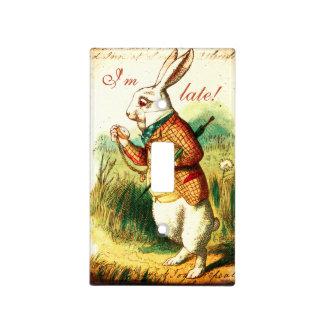 White Rabbit Alice Children's Book Light Switch Cover