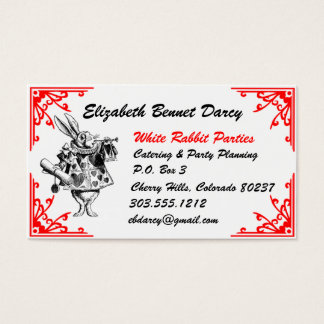 White Rabbit Alice In Wonderland Business Cards
