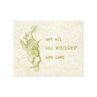 White Rabbit, Alice in Wonderland Canvas Print