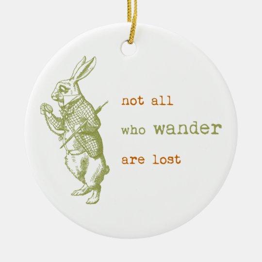 White Rabbit, Alice in Wonderland Ceramic Ornament