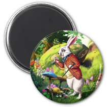 White Rabbit |Alice in Wonderland Easter Magnets