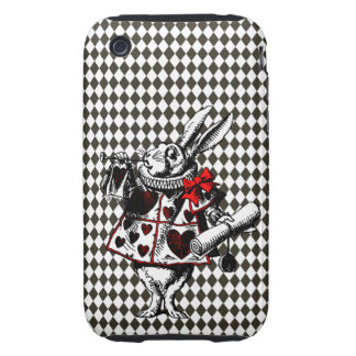 White Rabbit Alice in Wonderland Iphone Case Tough iPhone 3 Covers