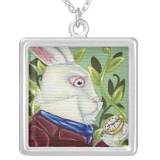 White Rabbit Alice In Wonderland Necklace