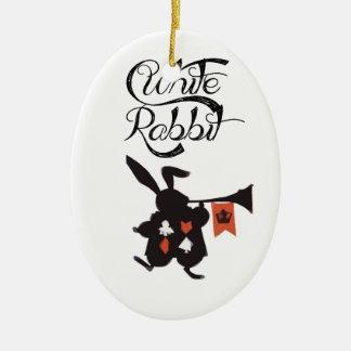 White Rabbit, Alice In Wonderland Christmas Ornaments