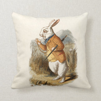 White Rabbit Alice in Wonderland Pillow