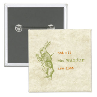 White Rabbit, Alice in Wonderland Pinback Button
