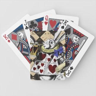 White Rabbit Alice in Wonderland Playing Cards!