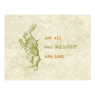 White Rabbit, Alice in Wonderland Postcard
