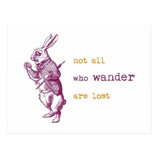 White Rabbit, Alice in Wonderland Postcard